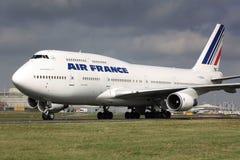B747 Air France Fotografering för Bildbyråer