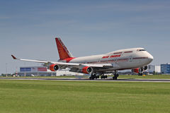 B747 Air India Arkivfoto