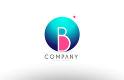 B alphabet 3d sphere letter blue pink logo icon design. B alphabet logo 3d blue sphere letter blue pink vector creative company icon design template modern Royalty Free Stock Photo