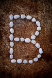 'B' alphabet made form white stone Royalty Free Stock Photo