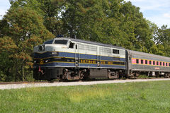 B&O diesel Locomotief Stock Afbeeldingen