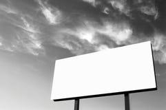 B&W - Panneau-réclame blanc Photographie stock libre de droits