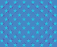 Bławy gwiazda wzór Fotografia Royalty Free
