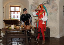 Błazen i Burgrave obraz royalty free