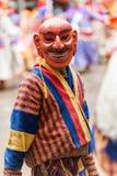 Błazen przy Jakar festiwalem w Bumthang, Bhutan fotografia stock