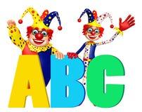 Błazen z ABC znakiem Zdjęcie Royalty Free