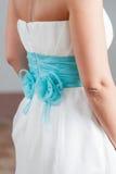 b błękitny szczegółu sukni brzmienia w ślub Obraz Royalty Free
