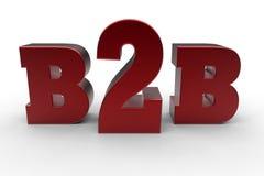 B2B企业概念 免版税库存照片