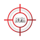 b2b企业间的目标标志概念 库存照片