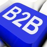 B2b βασικό επιχειρησιακό εμπόριο ή εμπόριο μέσων Στοκ Φωτογραφίες