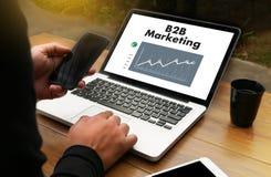 B2B επιχείρηση μάρκετινγκ Business Marketing Company, επιχείρηση Στοκ Εικόνες