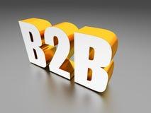 B2B επιχείρηση στην επιχείρηση σημάδι Στοκ Φωτογραφία