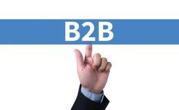 B2B επιχείρηση στην επιχείρηση Στοκ εικόνες με δικαίωμα ελεύθερης χρήσης