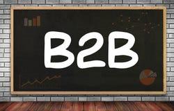 B2B επιχείρηση στην επιχείρηση Στοκ εικόνα με δικαίωμα ελεύθερης χρήσης