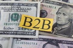 B2B στο δολάριο Bill (επιχείρηση σε Bisness) Στοκ Φωτογραφίες