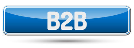 B2B - Abstract beautiful button with text. Royalty Free Stock Photos
