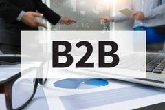 B2B affär till affären Fotografering för Bildbyråer