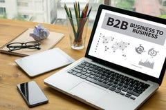 B2B affär till affären Arkivbilder