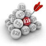 B2B-Ball-Pyramiden-Zielunternehmen-Geschäfts-Verkäufe Stockbild
