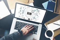 B2B biznes Biznesowy Korporacyjny Podłączeniowy partnerstwo Concep zdjęcie stock