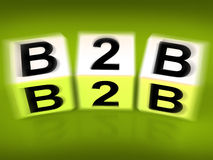 B2B Blocks Displays Business Commerce or Selling Royalty Free Stock Photography