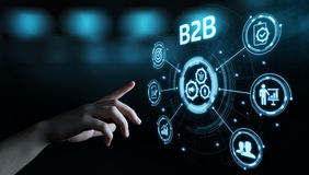 B2B Business Company Commerce Technology Marketing concept.  royalty free stock photography