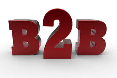 B2B business concept Royalty Free Stock Photo