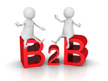 B2b Business Concept Text With Sitting People Royalty Free Stock Photo