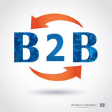 B2b , business to business Royalty Free Stock Photo