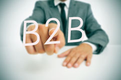 B2B, business-to-business Stock Photo