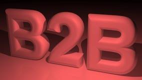 B2B - Business to business nel rosso Fotografia Stock Libera da Diritti