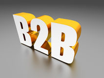 B2B Business to business sign. Computer generated image 3D render Stock Photography