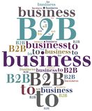 B2B. Business to business. Royalty Free Stock Photos