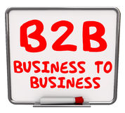 B2B Business Words Dry Erase Board Information Advice Stock Photos