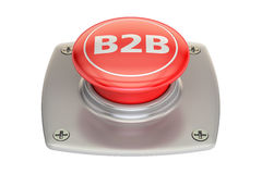 B2B button, 3D rendering Stock Images