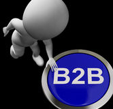 B2B Button Shows Business Partnership Or Deal Stock Image