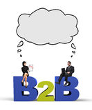 B2b concept Stock Photography