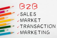 Business To Business Concept royalty free stock image