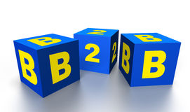 B2b on cubes Royalty Free Stock Photography