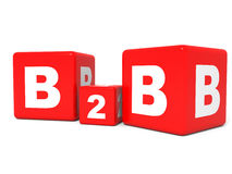 B2B cubes on white background. Royalty Free Stock Photography