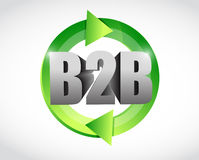 B2b cycle illustration design. Over a white background Royalty Free Stock Image