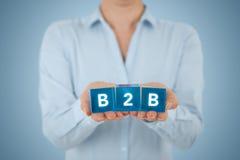 B2B d'entreprise à entreprise Images libres de droits