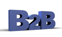 B2B 3d rende Fotografia Stock Libera da Diritti