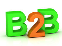 B2B 3d word colour bright letter Stock Photo
