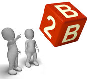 B2b Dice As A Sign Of Partnership Royalty Free Stock Photography