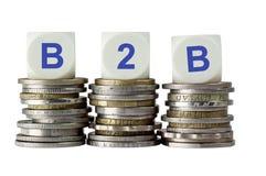 B2B - Geschäft zum Geschäft Stockfotografie