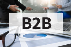 B2B-Geschäft zum Geschäft Stockbild