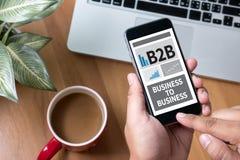 B2B-Geschäft zum Geschäft Lizenzfreie Stockfotografie