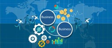 B2b-Geschäft zur bizz Vektorillustration Lizenzfreies Stockfoto