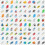 100 b2b icons set, isometric 3d style Royalty Free Stock Image